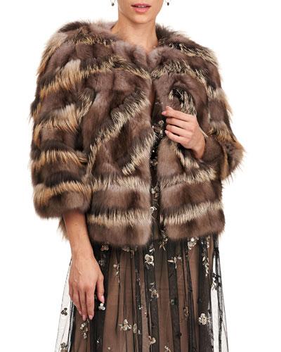 Sable And Fox Fur Intarsia Jacket