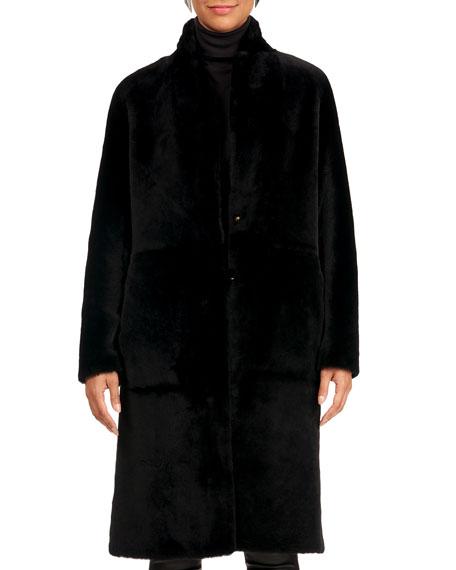 Yves Salomon Short Shearling Lamb Coat