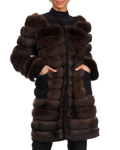 Sable Fur Stroller Coat
