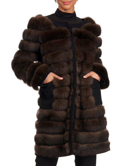 Burnett NY Sable Fur Stroller Coat