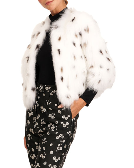 Yves Salomon Spotted Fox Fur Bolero Jacket