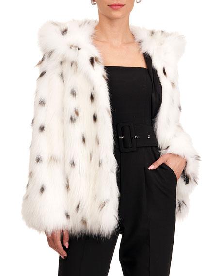Yves Salomon Fox Fur Jacket w/ Hood