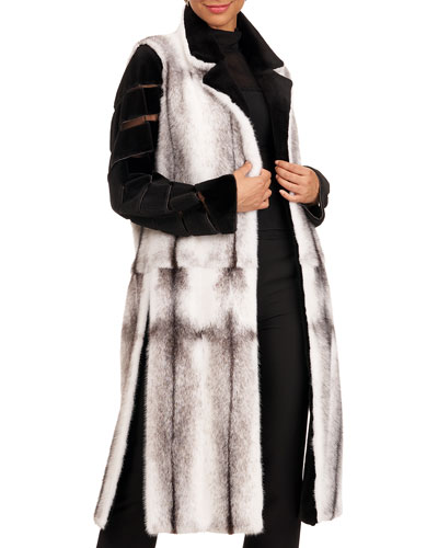 Mink Short Coat With Sheared