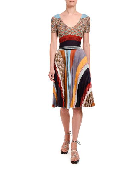 Missoni Pleated Patchwork Dress
