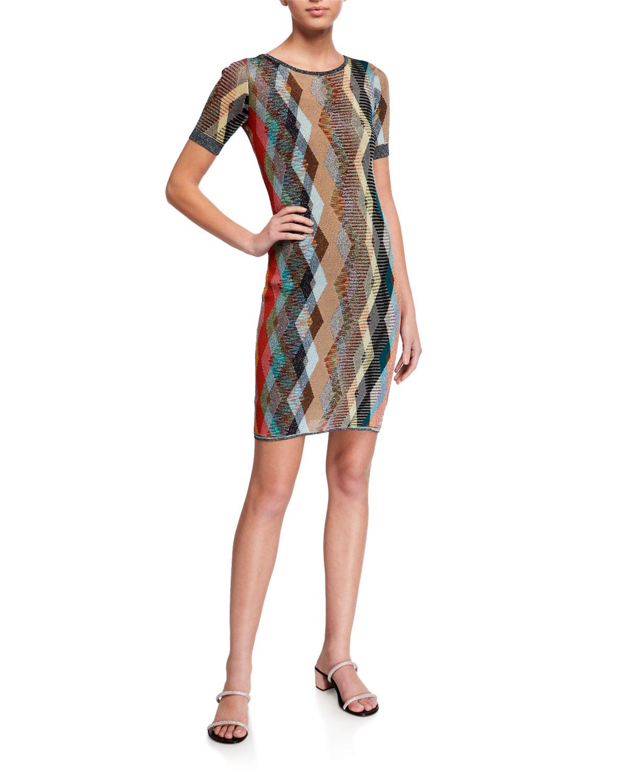 Missoni Striped Jersey Bodycon Dress