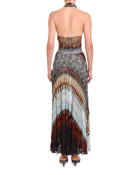 Missoni Diagonal Midi Halter Dress