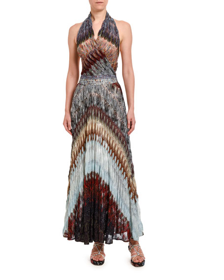 Missoni Dresses DIAGONAL MIDI HALTER DRESS