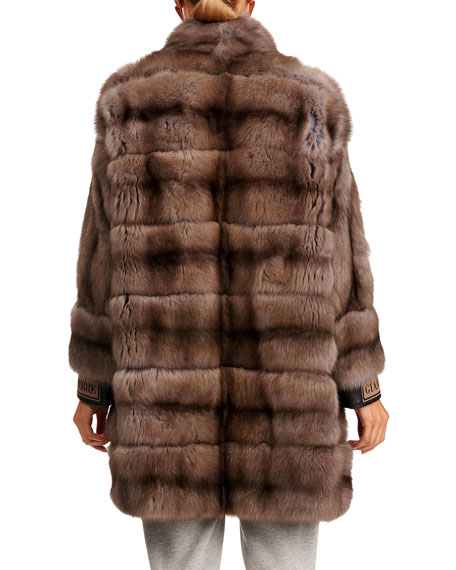 Image 2 of 4: Gianfranco Ferre Horizontal Russian Sable Fur Stroller