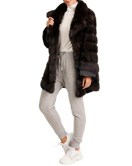 Gianfranco Ferre Horizontal Russian Sable Fur Jacket