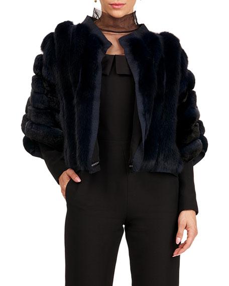 Burnett New York Chinchilla And Sable Fur Jacket