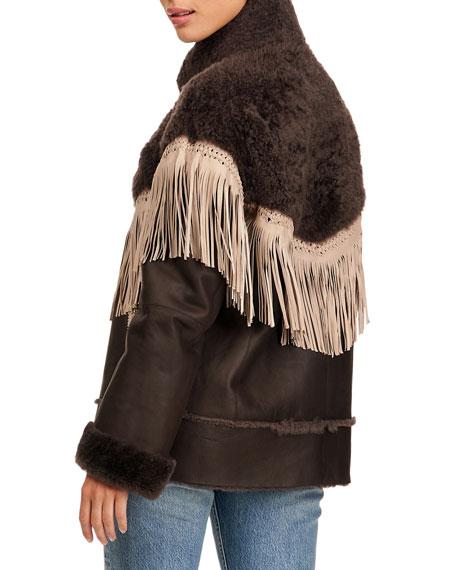 Christia Shearling Lamb Jacket With Fringes