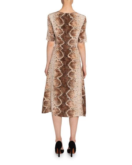 Altuzarra Sylvia Python-Print Silk Dress