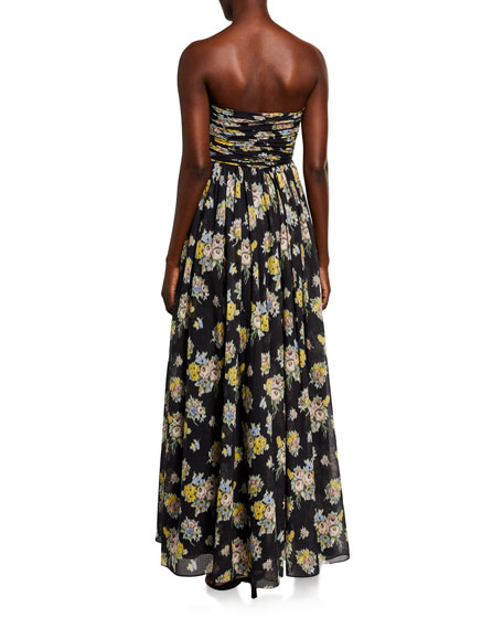 Image 2 of 2: Brock Collection Quintafoglia Strapless Maxi Dress