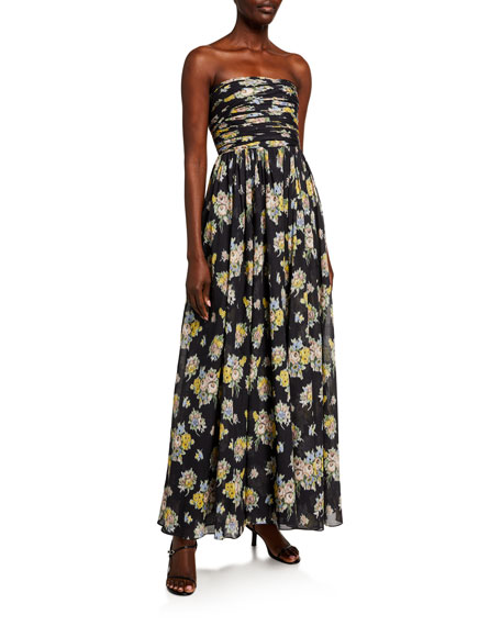 Image 1 of 2: Brock Collection Quintafoglia Strapless Maxi Dress