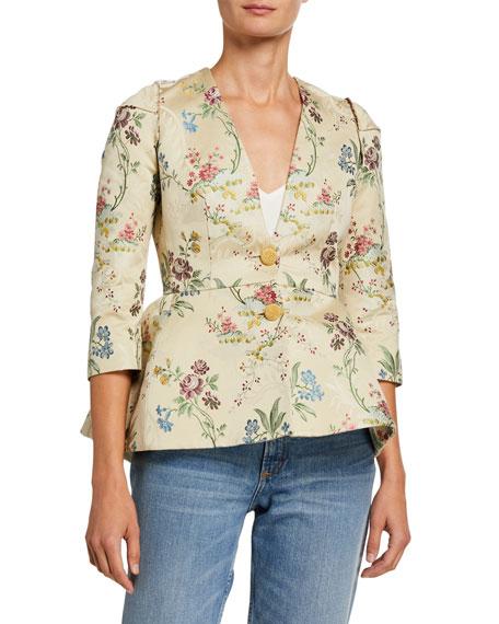 Brock Collection Floral Print Cotton-Silk Jacket