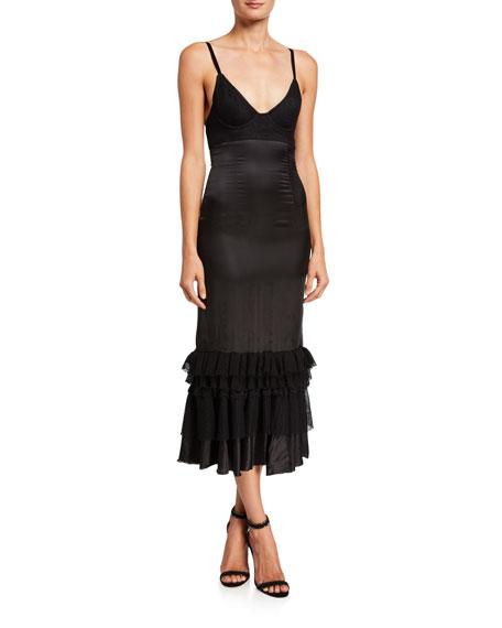 Brock Collection Woven Flounce-Hem Dress