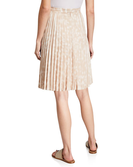 Image 2 of 3: Burberry Rersby Pleated Silk Skirt