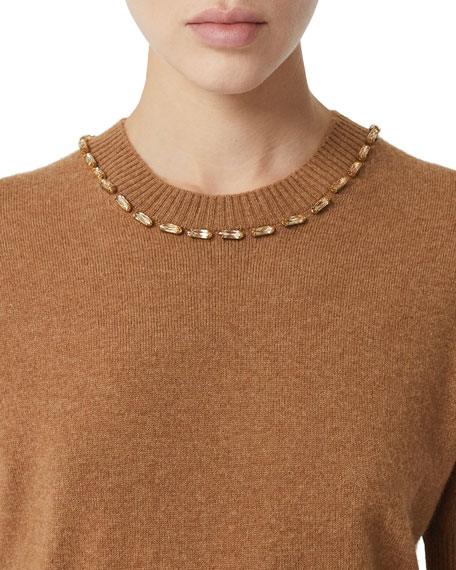 Burberry Ahaura Cashmere Short-Sleeve Sweater