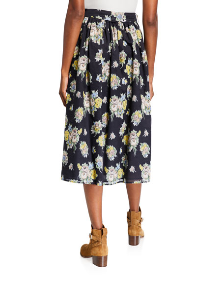Image 2 of 3: Brock Collection Olivia Floral-Print Skirt