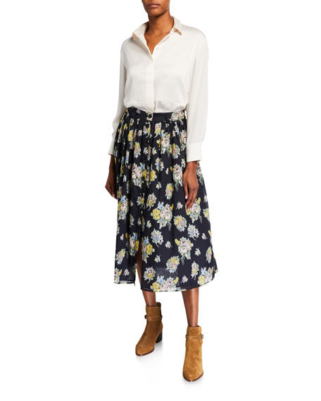 Image 3 of 3: Brock Collection Olivia Floral-Print Skirt