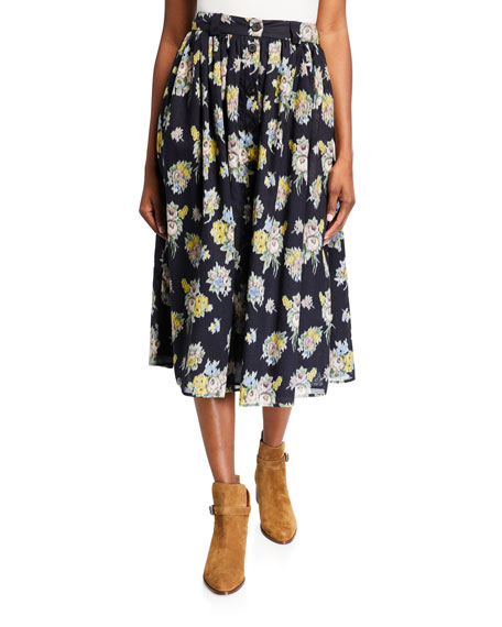 Image 1 of 3: Brock Collection Olivia Floral-Print Skirt
