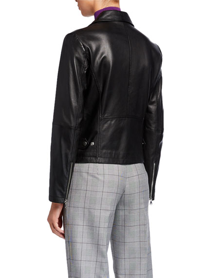 Emporio Armani Leather Moto Jacket