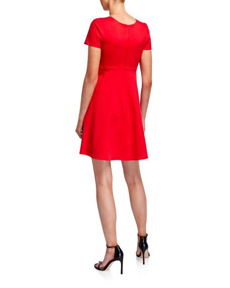 Emporio Armani Cap Sleeve Stretch Cotton Dress