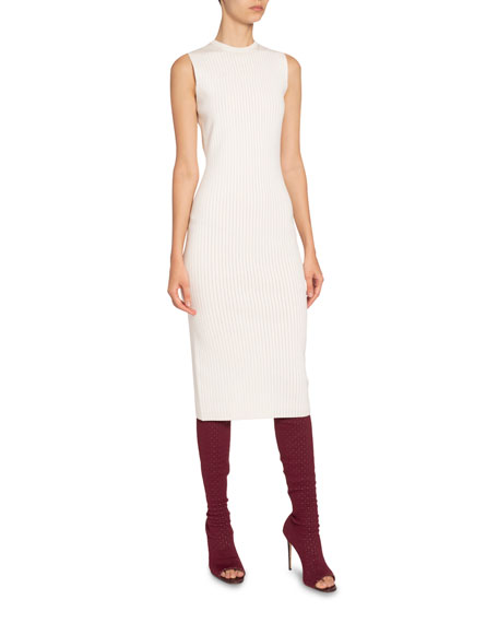 Victoria Beckham Ribbed Fitted Bodycon Dress