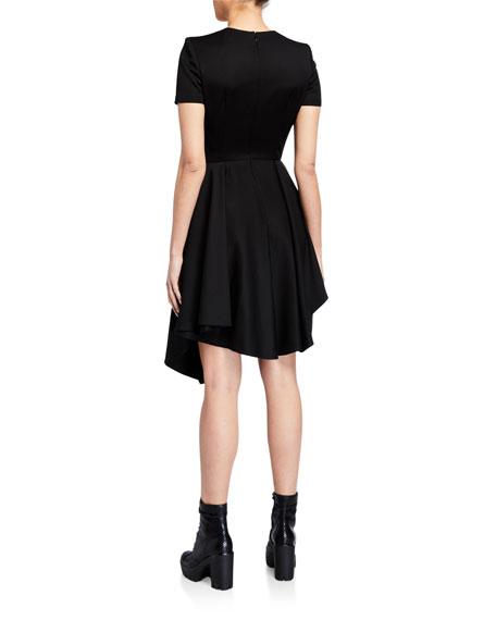 Alexander McQueen Grain de Poudre Layered Midi Dress