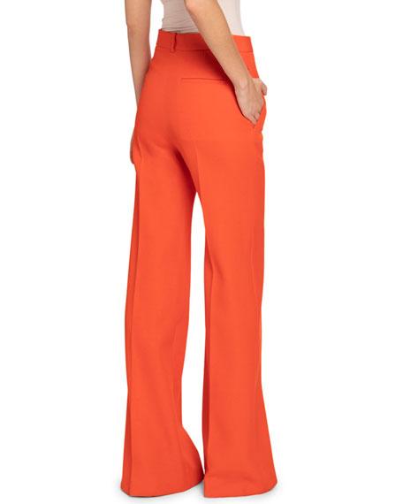 Victoria Beckham Wool High-Rise Wide-Leg Trousers