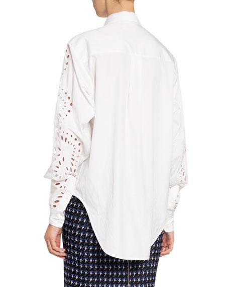 Victoria Beckham Broderie Anglaise Oversized Shirt