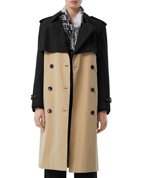 Burberry Coats Deighton Two-Tone Trench Coat