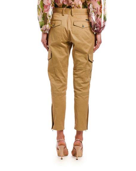 Dolce & Gabbana Khaki Straight-Leg Cargo Pants