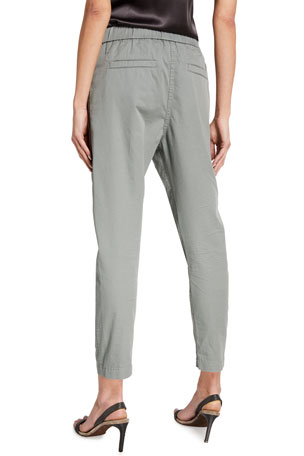 NWT $850 BRIONI Gray Cotton-Cashmere Pants with Leather Details 35 W Modern-Fit