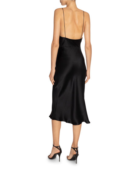 Saint Laurent Silk Midi Slip Dress