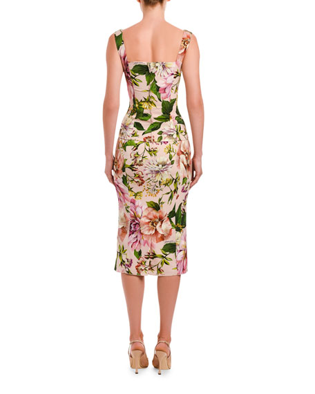Image 2 of 2: Dolce & Gabbana Floral Print Charmeuse Pencil Skirt