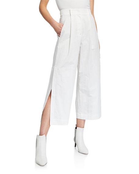 Brunello Cucinelli Crispy Cotton Gabardine Cropped Pants