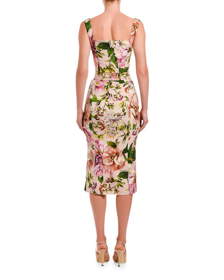 Dolce & Gabbana Charmeuse Floral-Print Top