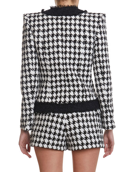 Image 3 of 3: Balmain Houndstooth Tweed Jacket