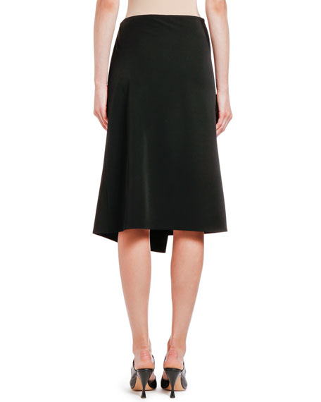 Bottega Veneta Draped Wrap-Front Gabardine Skirt