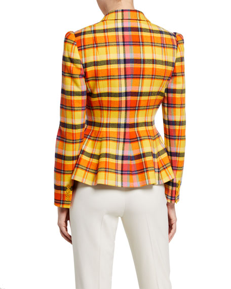 Image 3 of 3: Ralph Lauren Collection Eloise Plaid Blazer Jacket