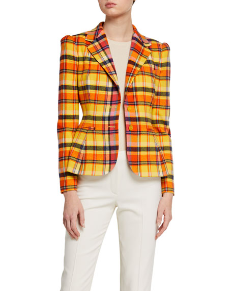 Image 1 of 3: Ralph Lauren Collection Eloise Plaid Blazer Jacket