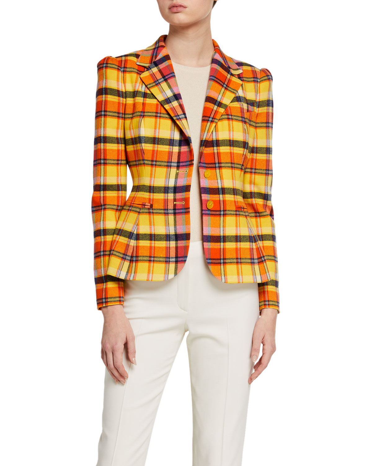 Ralph Lauren Collection Eloise Plaid Blazer Jacket