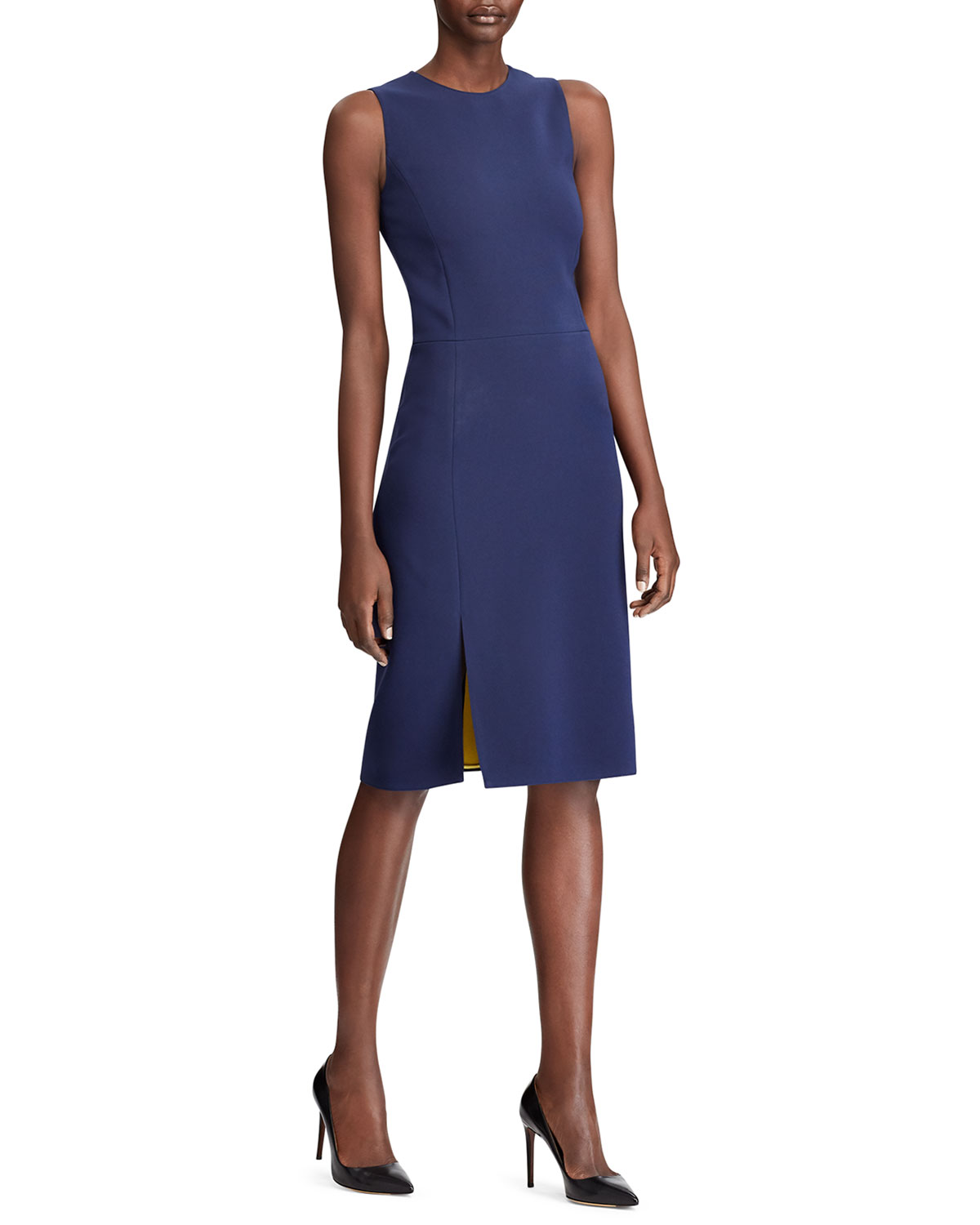 Ralph Lauren Collection Cora Sleeveless Cocktail Dress