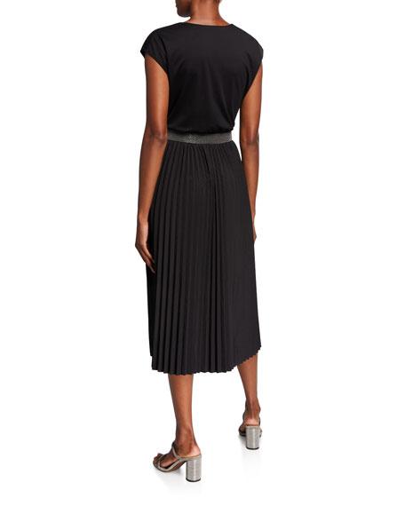Brunello Cucinelli Cotton Jersey Cap-Sleeve Wrap Dress