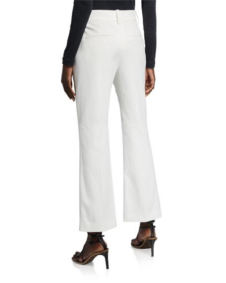 Brunello Cucinelli Cropped Cotton Kick-Flare Pants