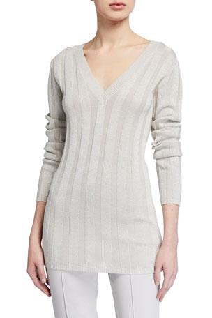 Brunello Cucinelli Metallic Cotton Sweater