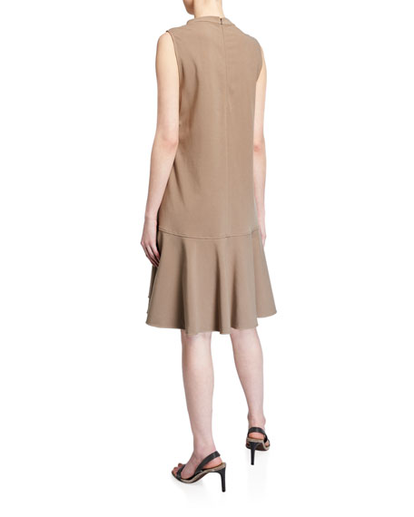 Brunello Cucinelli Couture Jersey Dress with Monili Pocket