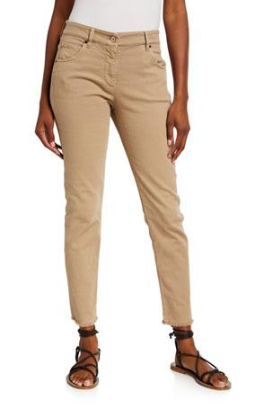 Brunello Cucinelli Garment Dyed Narrow Jeans