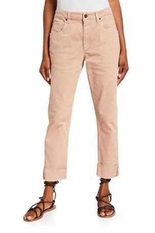 Brunello Cucinelli Garment Dyed Straight-Leg Jeans